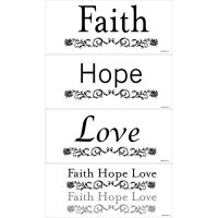 Snap Faith, Hope and Love Wall Art - Walmart.com