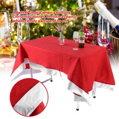 Party Chair Covers Walmart Back Support For Office Chairs Officeworks Dilwe Red Table Cloth Cover Ornaments Christmas Household Festival Decor Com