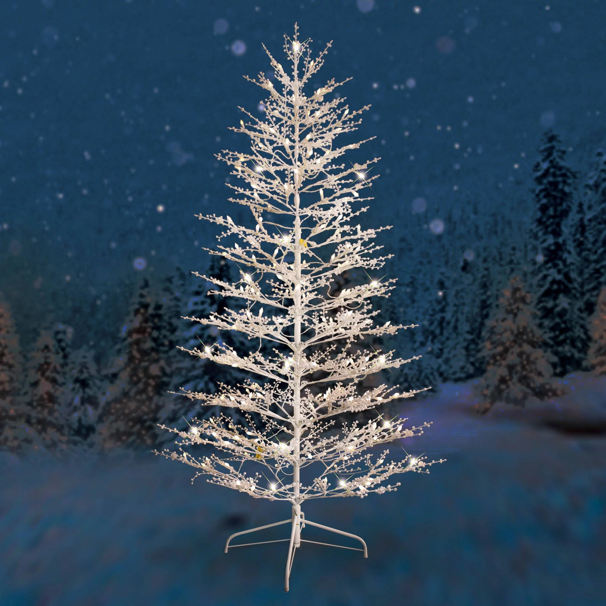 Image result for white winterberry christmas tree