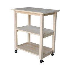 Unfinished Kitchen Cart Built In Bench Seat International Concepts Microwave Walmart Com