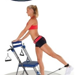 Chair Gym Exercise System With Twister Seat Covers For Weddings Rentals As Seen On Tv Total Body Workout Blue Walmart Com