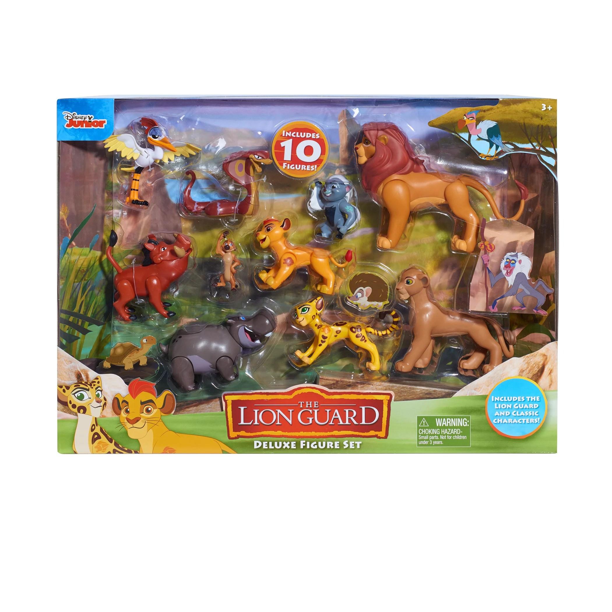 Disney Lion Guard Deluxe 10 Piece Figure Set Includes