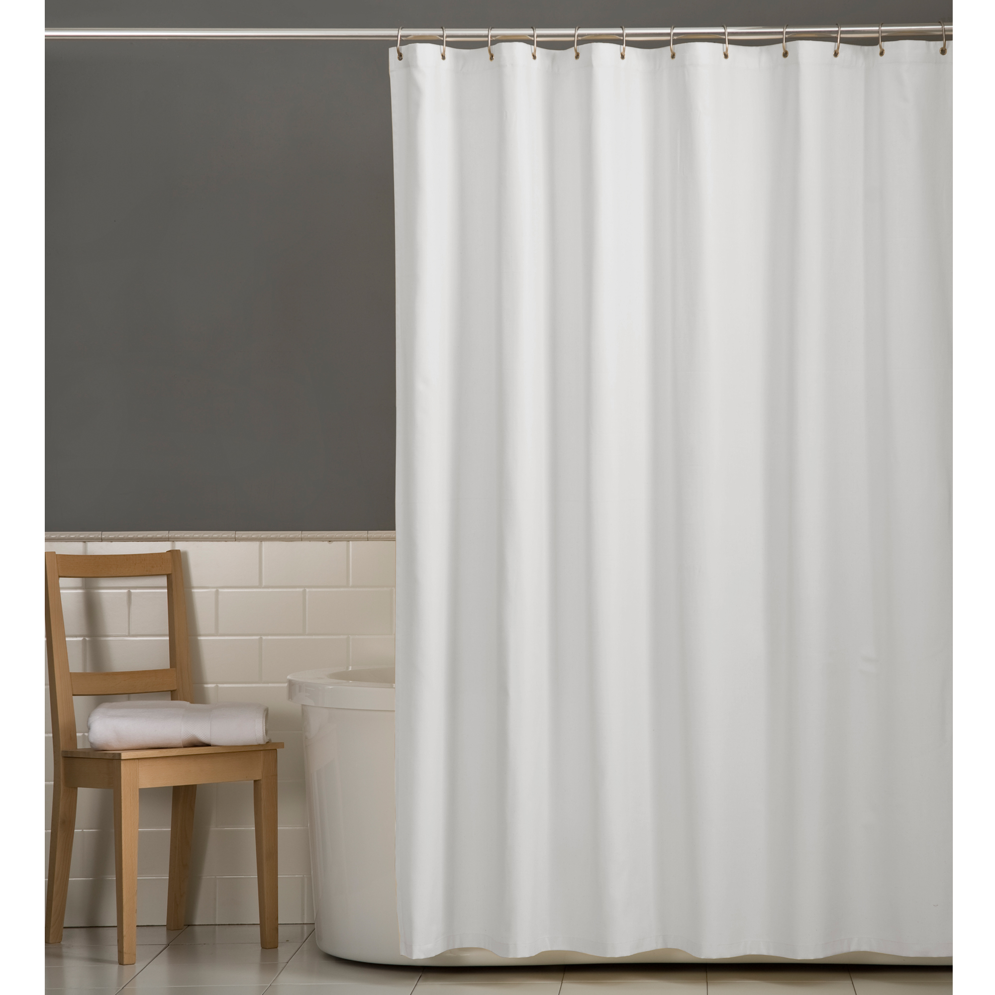 zenna home microfiber water repellent fabric shower curtain or liner
