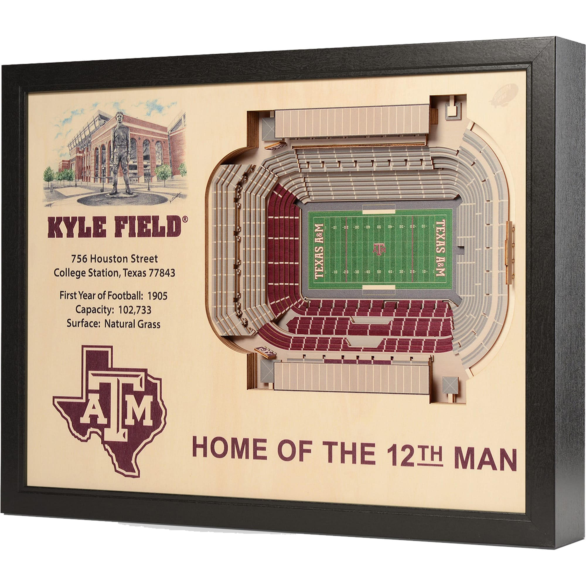 Does it look like the texas a&m crowd is following sec guidelines and. Youthefan Texas A M Aggies 25 5 X 19 5 Kyle Field Stadium Views Wall Art Walmart Com Walmart Com
