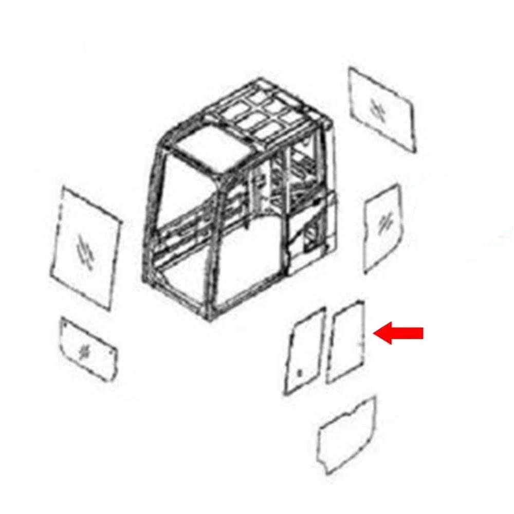 20Y-54-52840 Rear Door Slider Glass Made For Komatsu