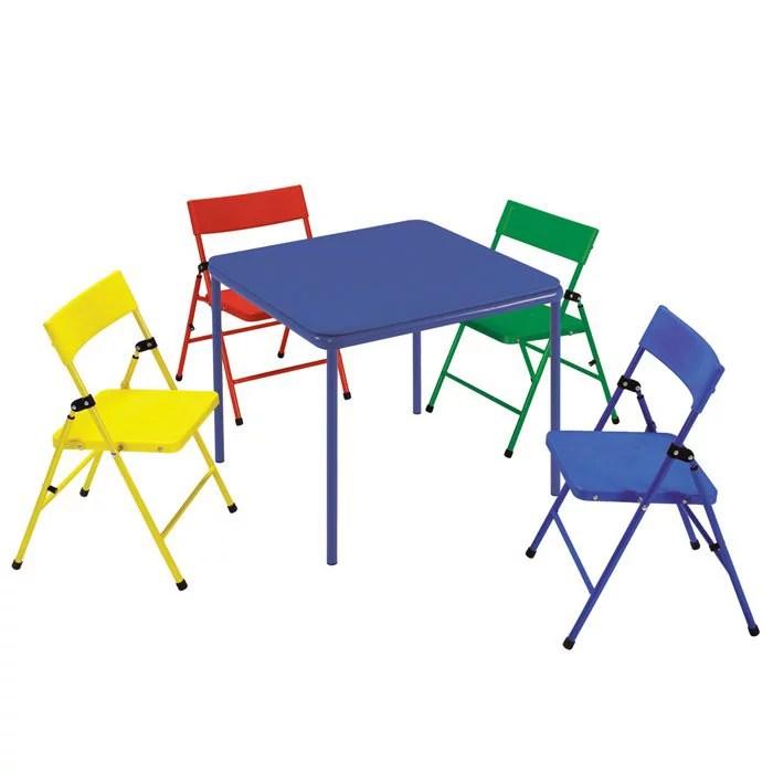 folding chair desk steamer cushions cosco kid s 5 piece and table set walmart com