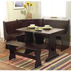 Corner Living Room Table 7 Piece Set Breakfast Nook 3 Dining Espresso Walmart Com