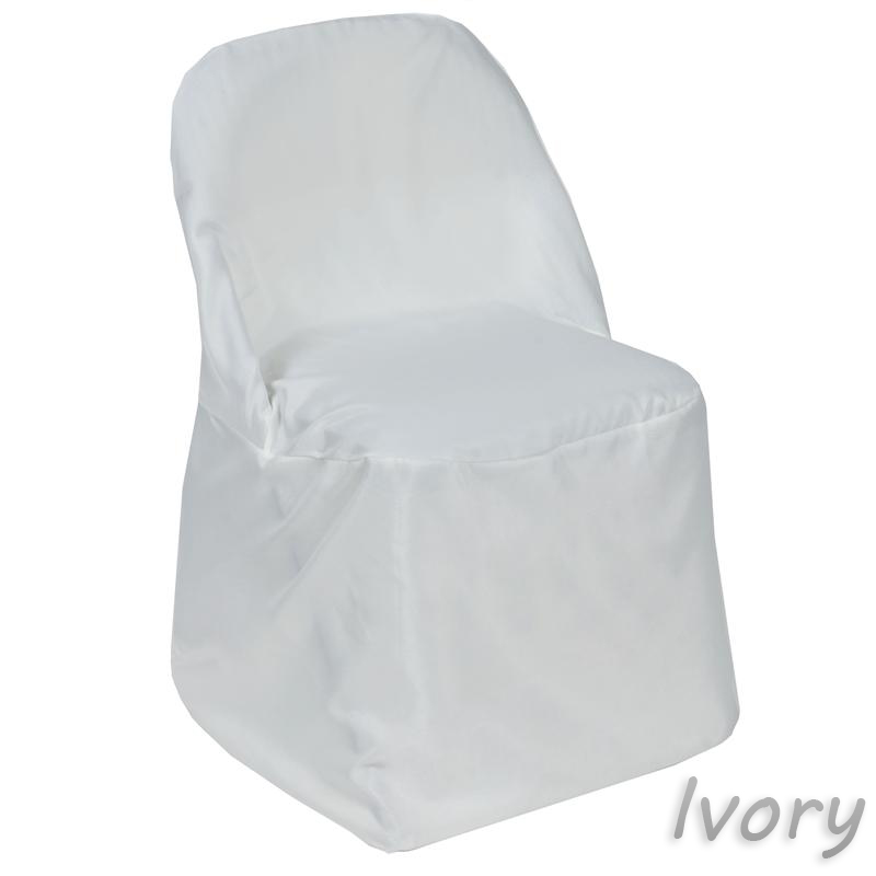chair covers for parties kenny chesney blue bay hats balsacircle folding round polyester slipcovers party wedding reception decorations walmart com