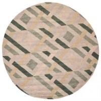 Contemporary Round Area Rug in Multicolor
