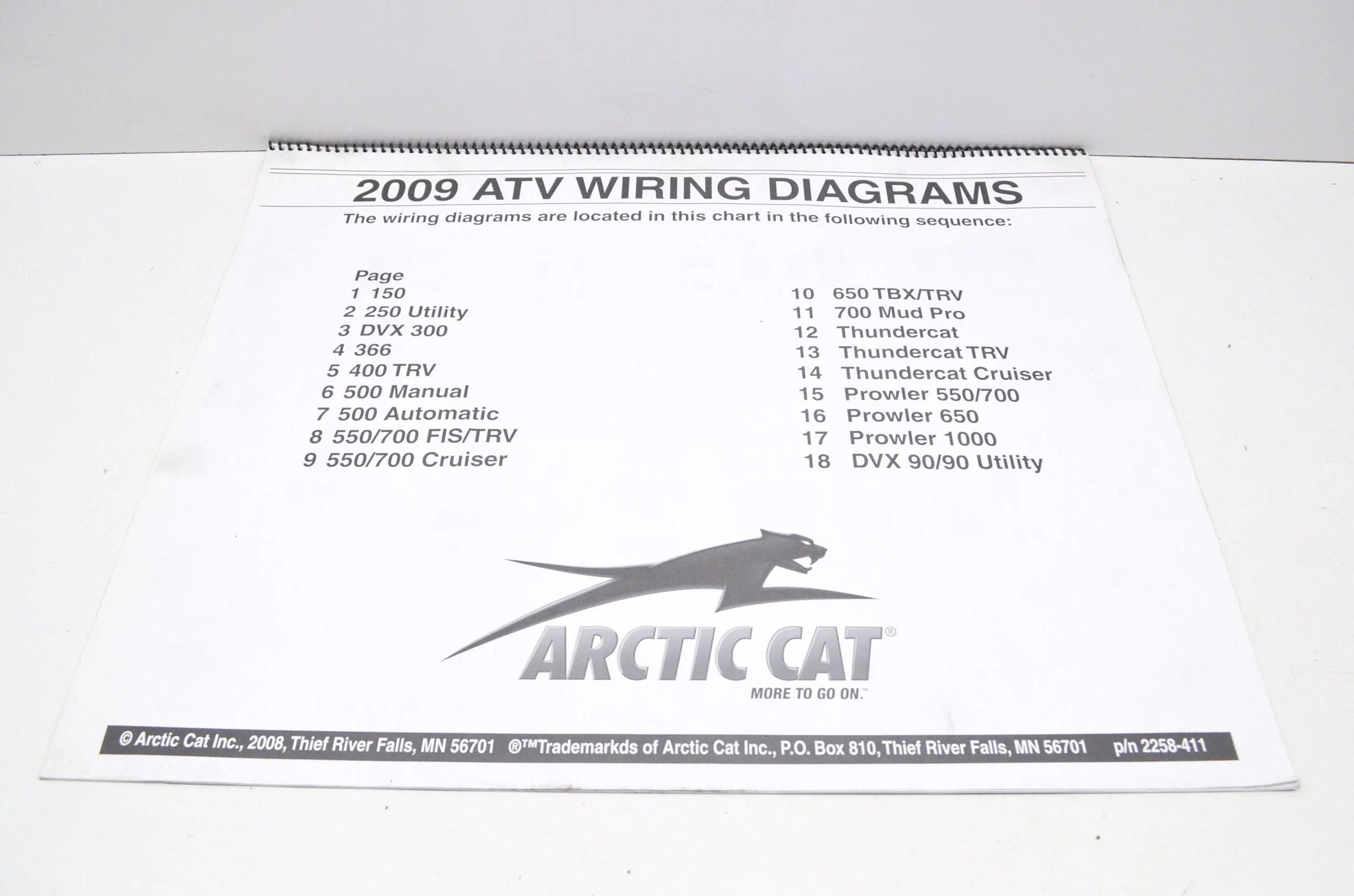 medium resolution of arctic cat 2258 411 2009 atv wiring diagrams qty 1 walmart com rh walmart com 2001 arctic cat 400 4x4 wiring diagram wiring diagram 1999 arctic cat 500