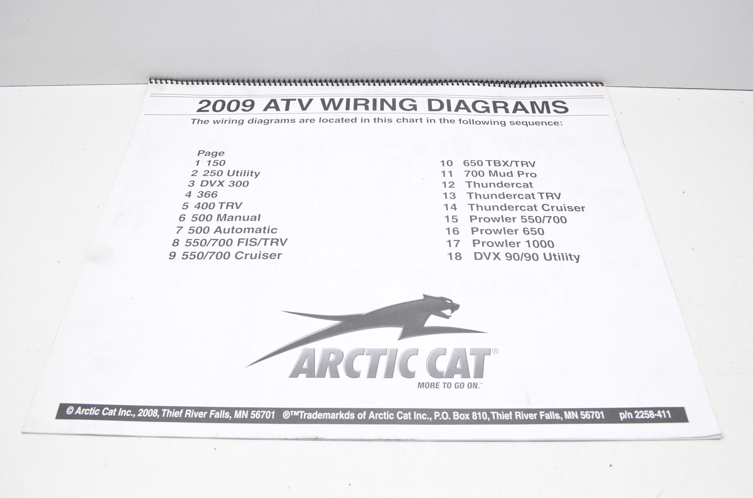 hight resolution of arctic cat 2258 411 2009 atv wiring diagrams qty 1 walmart com rh walmart com arctic cat wiring schematic arctic cat atv wiring schematics