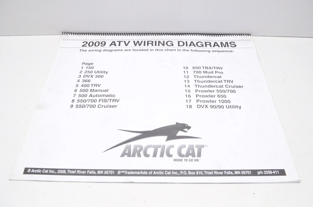 medium resolution of arctic cat 2258 411 2009 atv wiring diagrams qty 1 walmart com