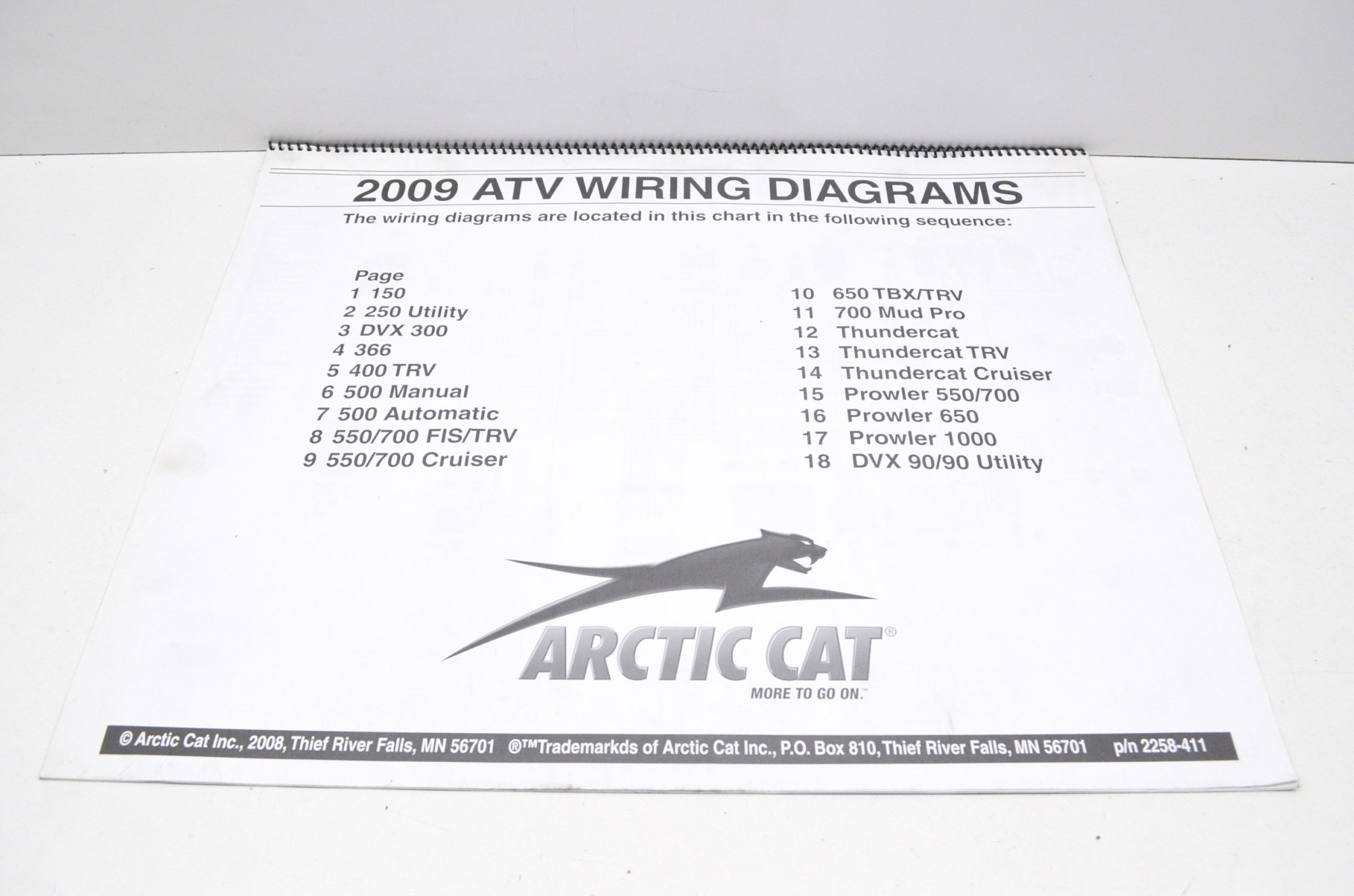 hight resolution of arctic cat 2258 411 2009 atv wiring diagrams qty 1 walmart com