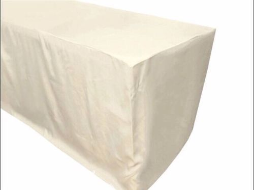 5 ft fitted table cover waterproof table cover patio shows outdoor 10 colors color ivory