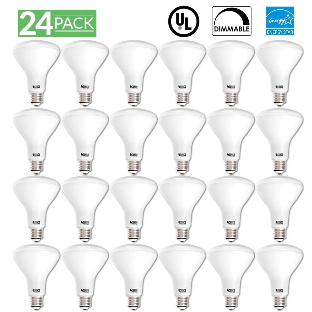 Sunco Lighting 24 Pack BR30 LED Light Bulb 11 Watt (65
