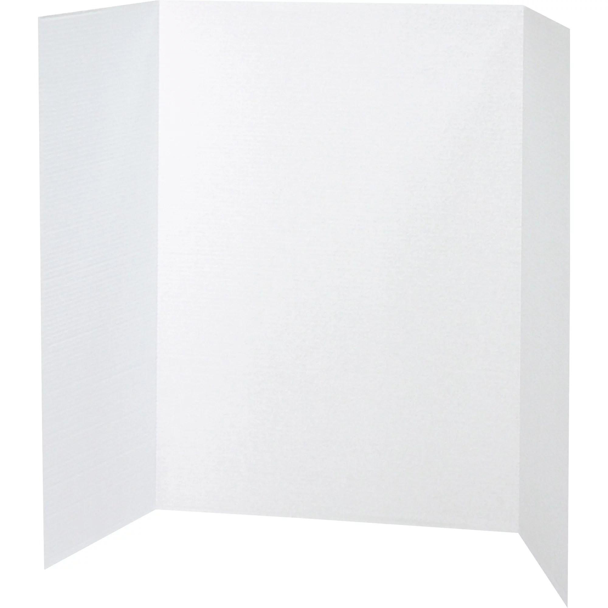 pacon tri fold display boards 40 x 28 white 8 carton