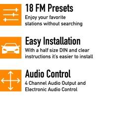 xo vision xd103 single din in dash fm mp3 stereo digital media receiver [ 2000 x 2000 Pixel ]