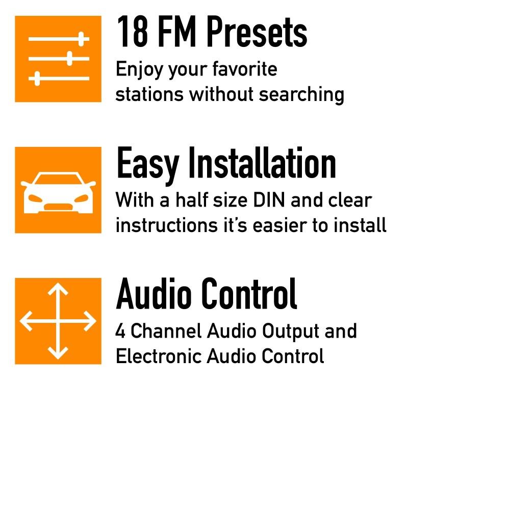 medium resolution of xo vision xd103 single din in dash fm mp3 stereo digital media receiver