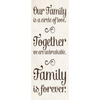 """Our Family Inspirational Canvas Wall Art, 8"""" x 24 ..."""