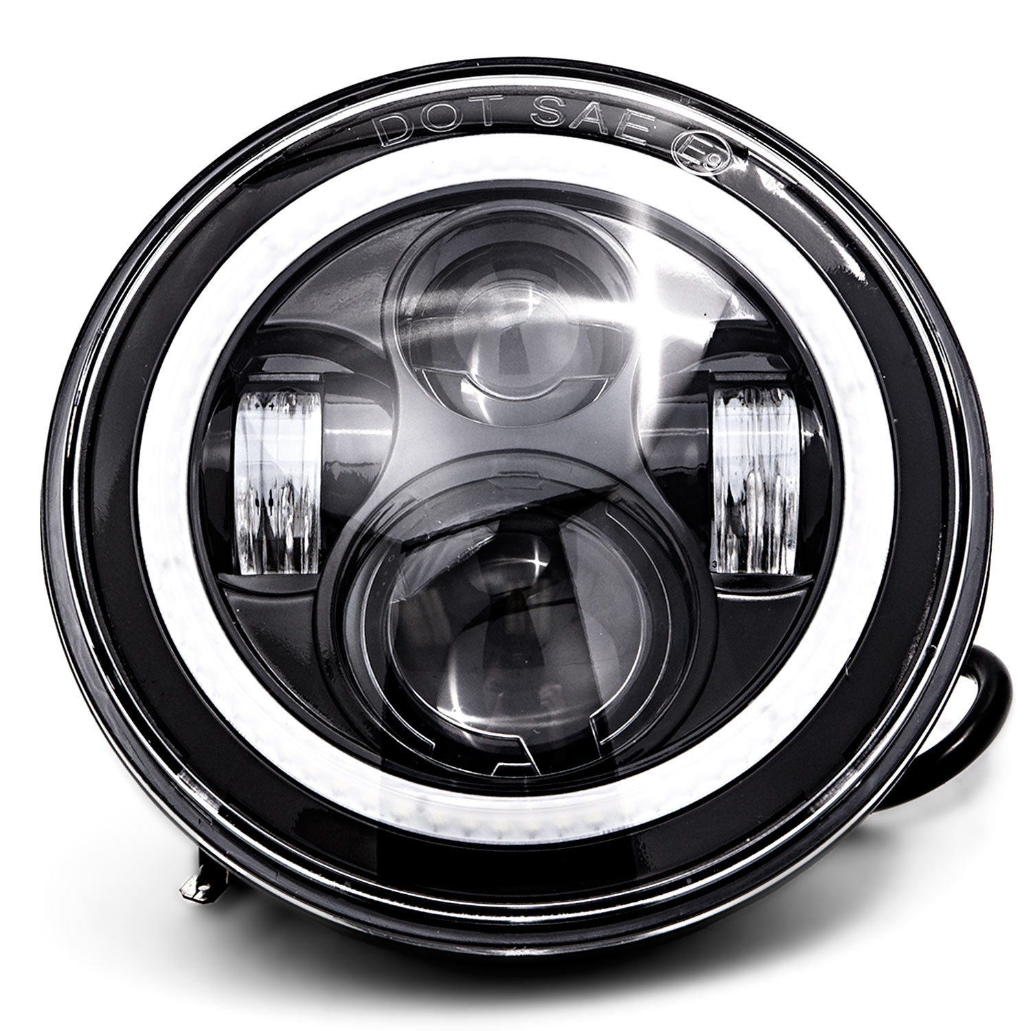 led 7 headlight bluetooth rgb halo ring light for harley davidson motorcycles for harley davidson road king efi flhri 2000 2006 [ 1500 x 1500 Pixel ]