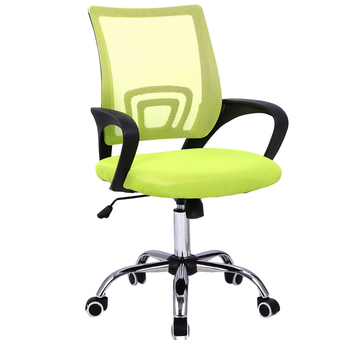 swivel office chair plans wheelchair toilet costway modern mesh mid back computer desk