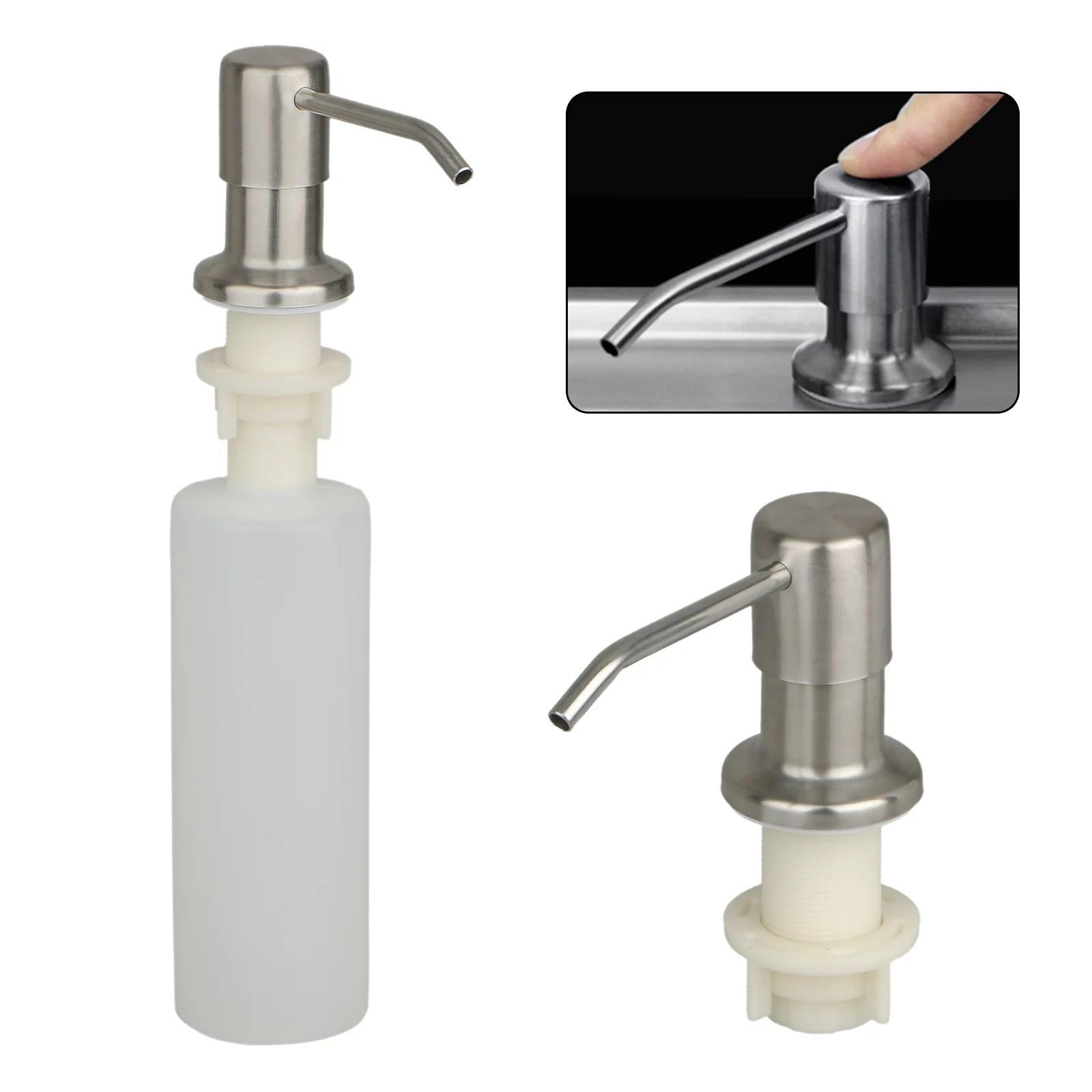 500ml sink soap dispenser stainless steel kitchen soap hand soap dispenser pump