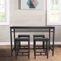 SEVENTH 5 Piece Kitchen Dining Table Sets, Modern ...