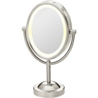 Conair True Glow Satin Nickel Oval Lighted Mirror ...