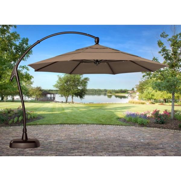 Treasure Garden 11 Ft. Obravia Cantilever Offset Patio Umbrella With Base