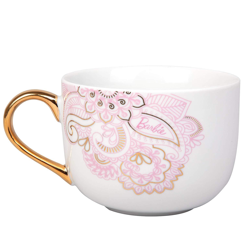 barbie coffee latte mug
