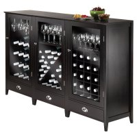 Winsome Wood Bordeaux 3pc Modular Wine Cabinet Set ...