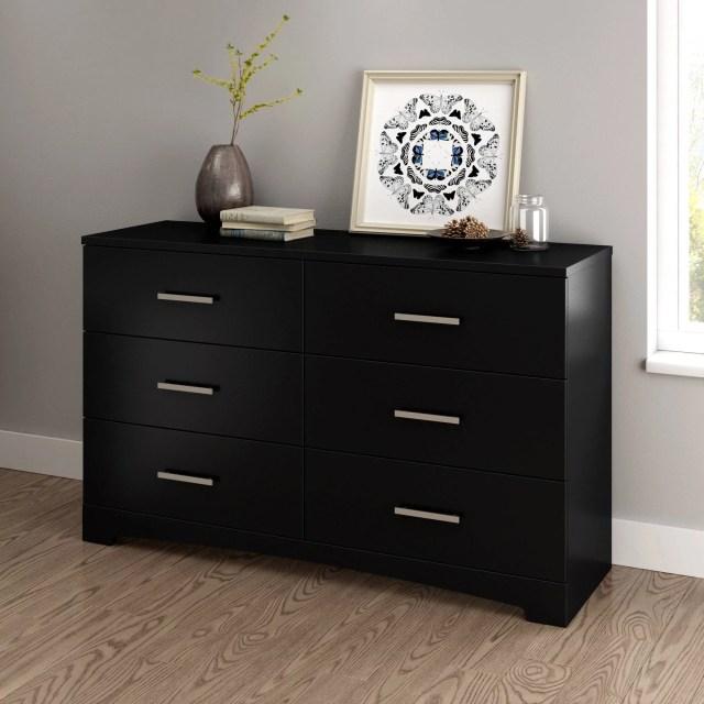 Laguna Double Dresser 5 Drawer Chest and Nightstand Set