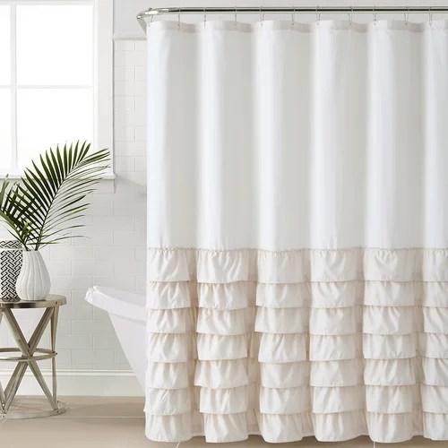 Melanie Ruffle Shower Curtain Walmart Com