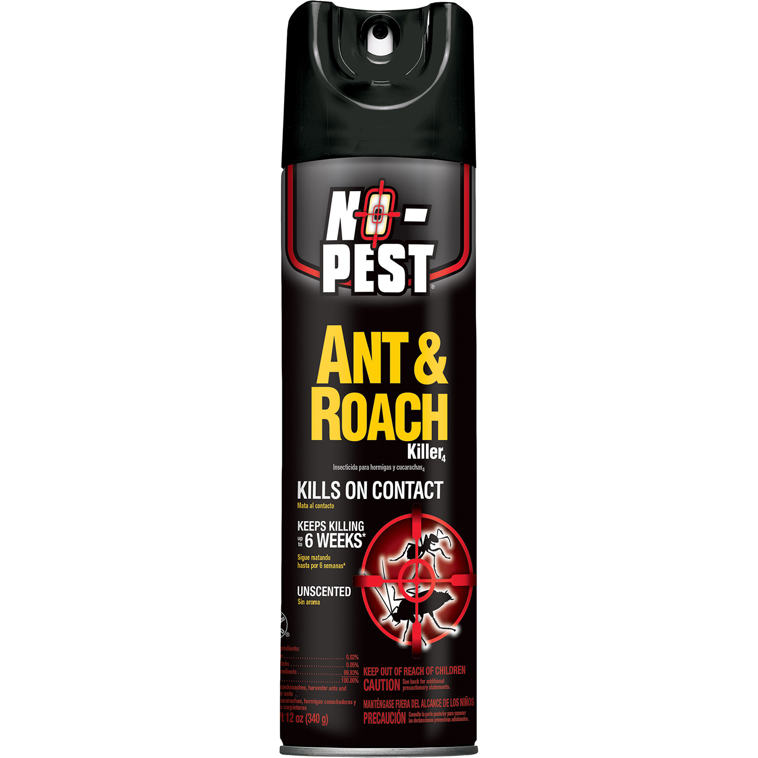 NoPest Ant and Roach Killer Aerosol Unscented 12Ounces