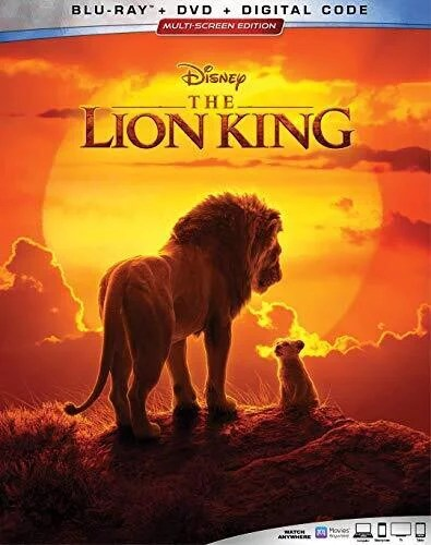 Dvd Le Roi Lion 2019 : (Blu-ray, Walmart.com