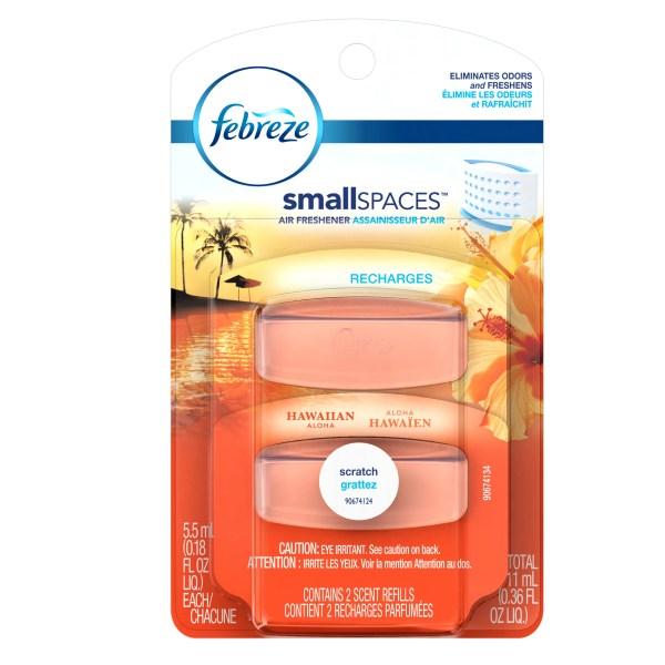 Febreze Smallspaces Hawaiian Aloha Refills Air Freshener 2 Count 11 Ml