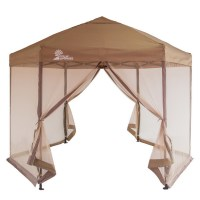 Palm Springs Hexagonal Pop Up Canopy Tent with Mesh Walls ...