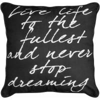 Formula Live Laugh Love Decorative Pillow, Black and White