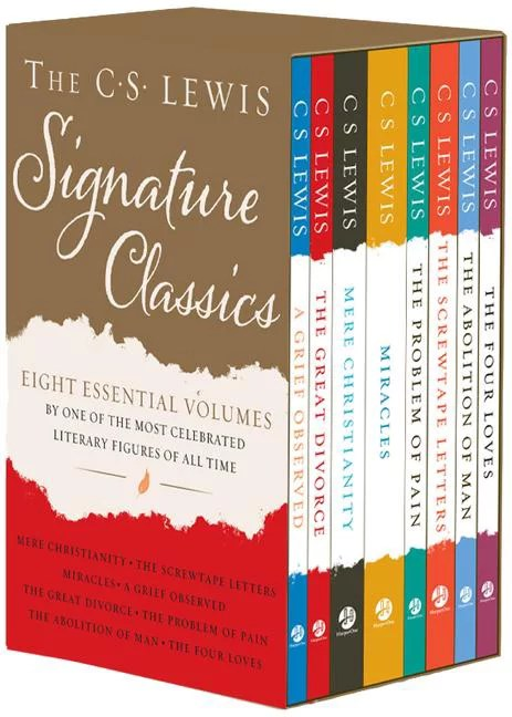 The C. S. Lewis Signature Classics (8-Volume Box Set) : An Anthology of 8 C. S. Lewis Titles: Mere Christianity, the Screwtape Letters, Miracles, the Great Divorce, the Problem of Pain, a Grief Observed, the Abolition of Man, and the Four Loves