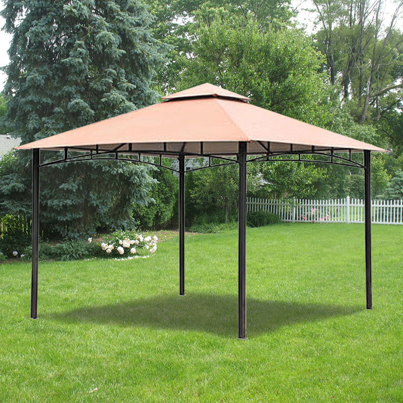 garden winds replacement canopy top for backyard creations metal gazebo riplock 350 replacement canopy top cover only metal frame not included