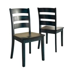 Ladderback Dining Chairs Ergonomic Chair Edmonton Lexington Ladder Back Set Of 2 Multiple Colors Walmart Com