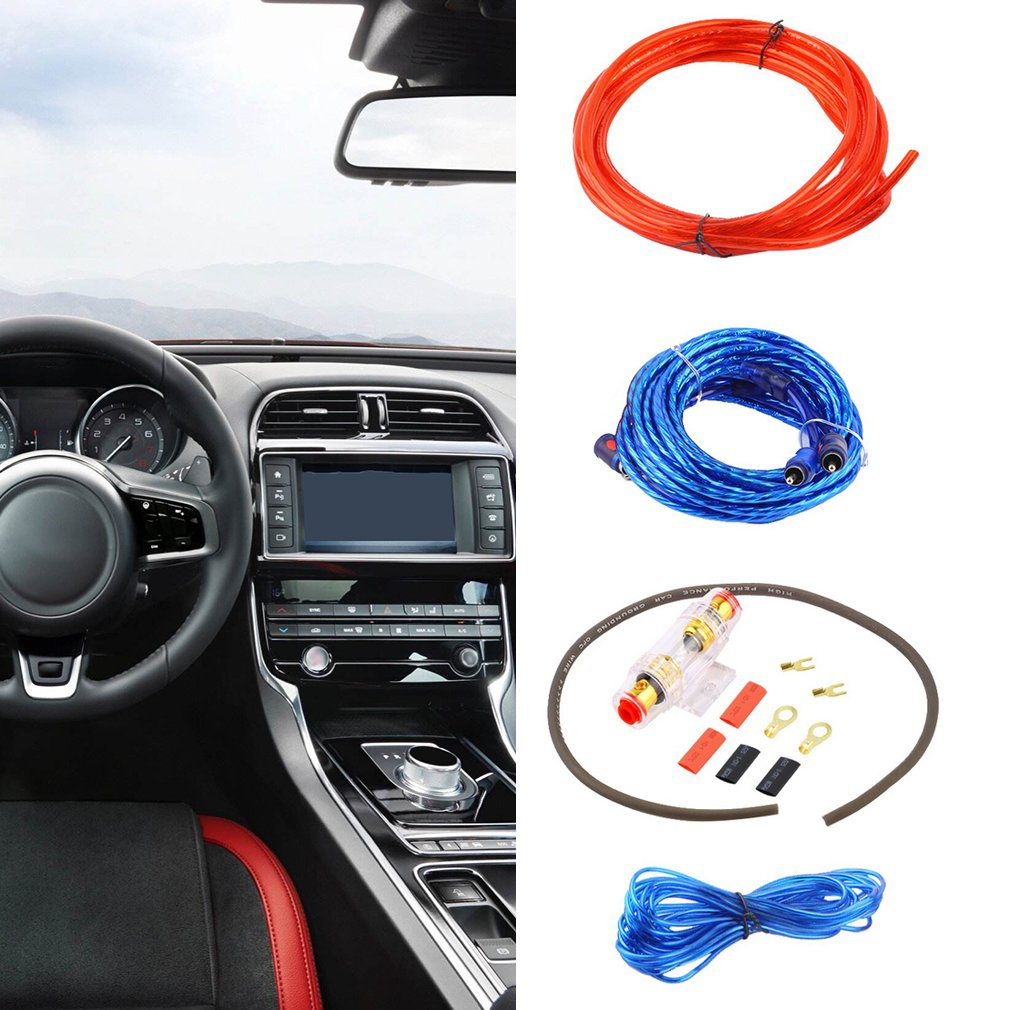 hight resolution of car audio subwoofer amplifier 800w 8ga car audio subwoofer amplifier amp wiring fuse holder wire cable kit walmart com
