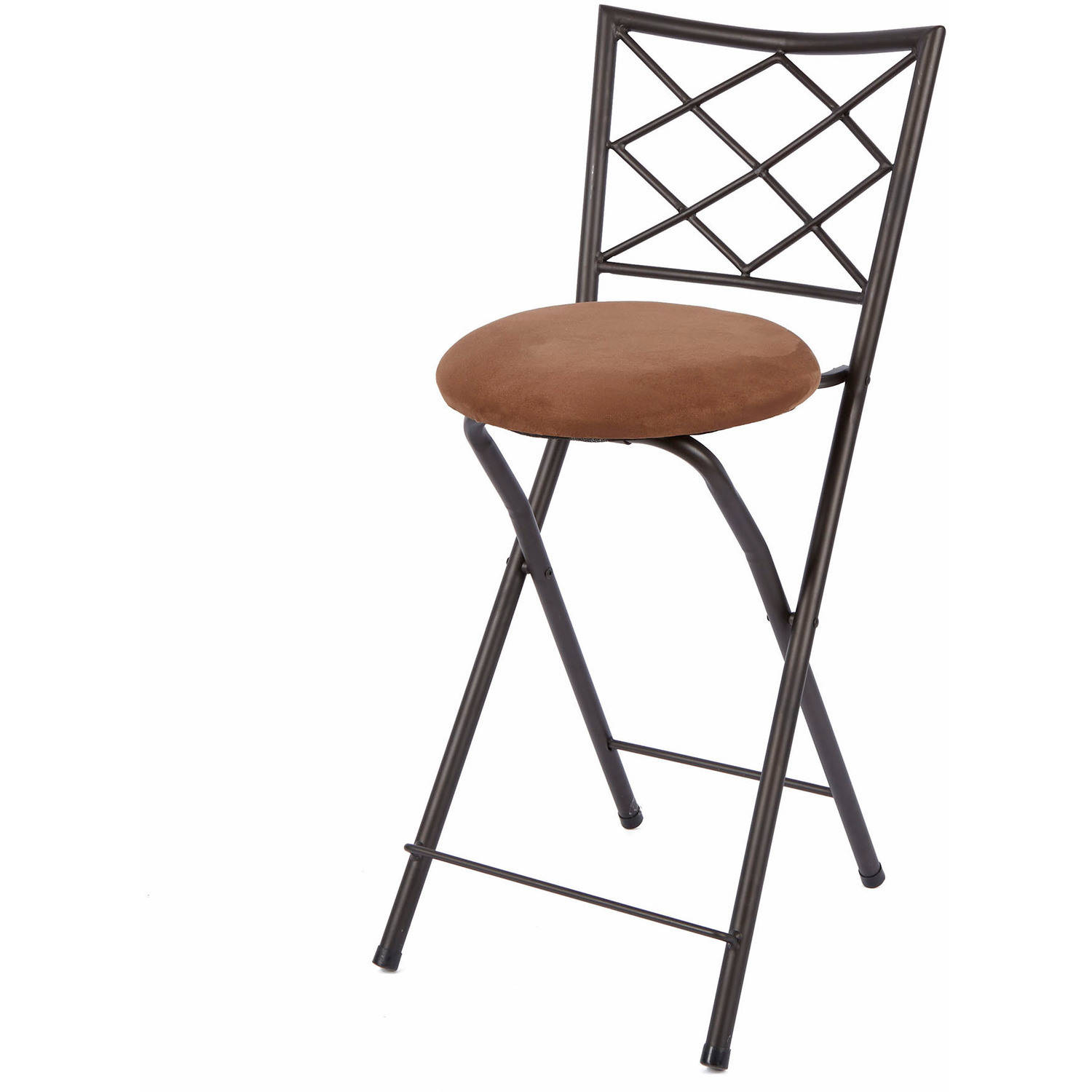 folding bar stool chairs outdoor rocking walmart diamond x back 24 counter height bronze multiple colors com