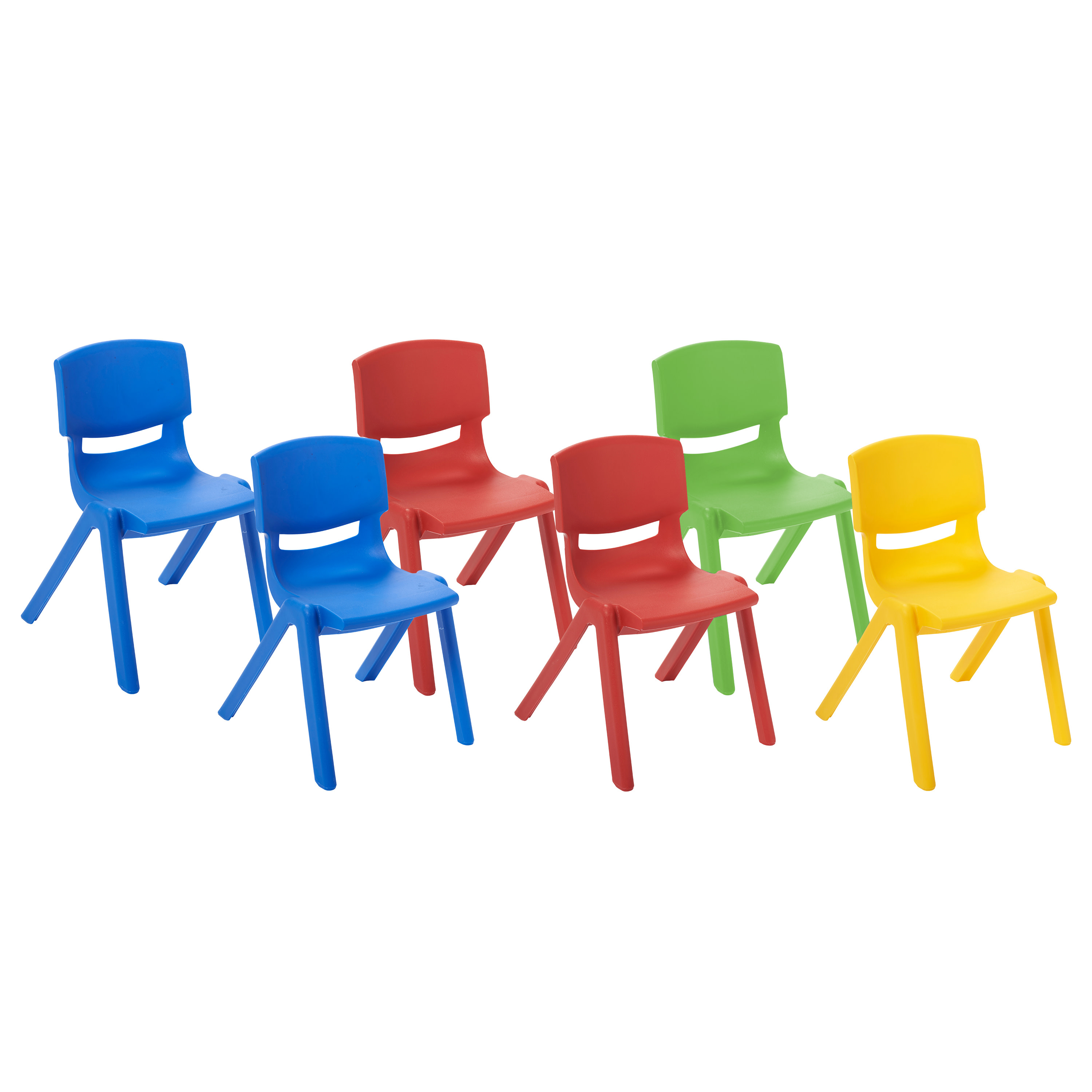 walmart resin chairs squatters chair covers brisbane ecr4kids 12in pack 6 piece assorted com