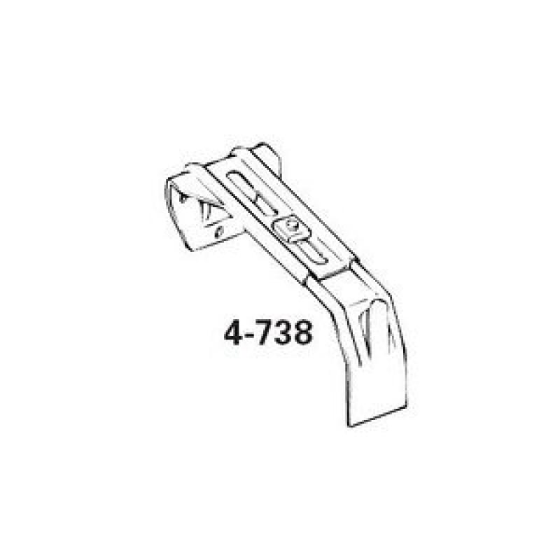 graber dauphine curtain rod center support bracket fits 2 1 2 or 4 1 2 inch wide dauphine rod