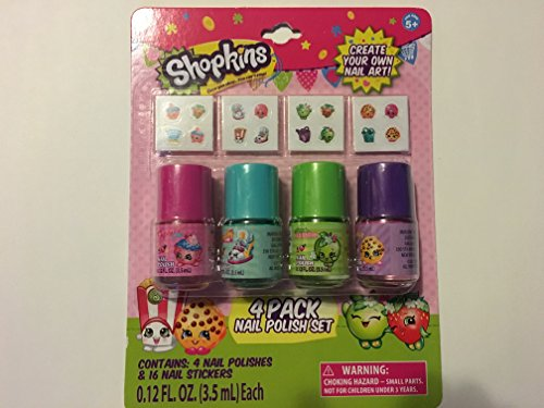 shopkins 4 pk nail polish stickers