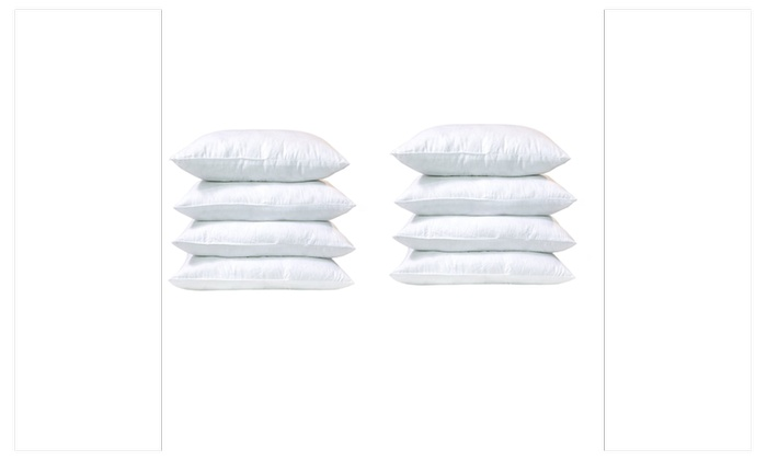 8 pack throw pillows insert emolli premium super soft fiber filled pillows hypoallergenic pillow insert cushion 18 x 18 8 pack