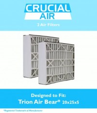 2 Trion Air Bear Filter 255649-102 Pleated Furnace Air ...