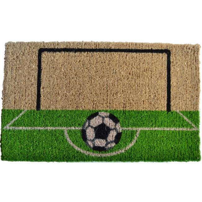 Imports Decor 171SCM Soccer Field Door Mat