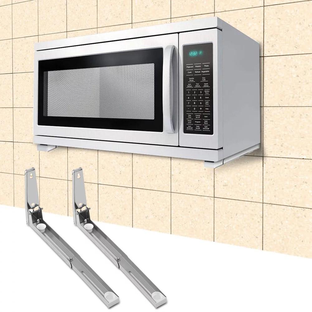 eotvia microwave oven shelf microwave oven bracket 2x kitchen stainless steel microwave oven bracket sturdy foldable stretch wall mount rack shelf
